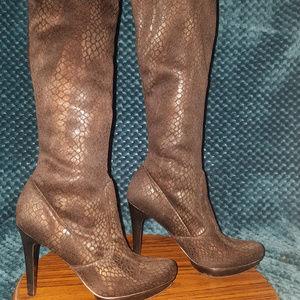 Carlos Santana Challange Knee Snake Skin Boots 6.5